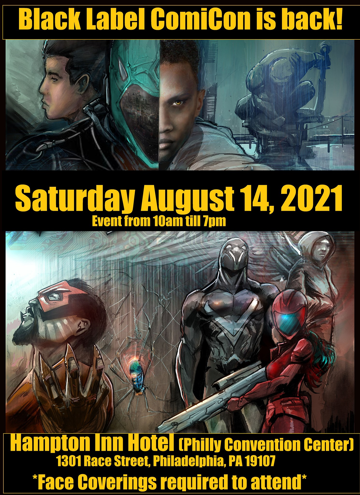 R.E. 5 City Tour Event: Black Label Comicon